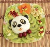 De panda wordt gemaakt van rijst Stock Foto's