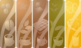 De panelen van de drank Stock Foto's