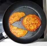 De pannekoek van de aardappel. Stock Afbeelding