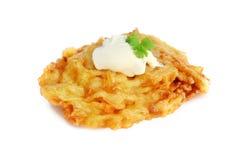 De Pannekoek van de aardappel Stock Afbeeldingen