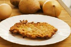 De pannekoek van de aardappel Royalty-vrije Stock Foto's
