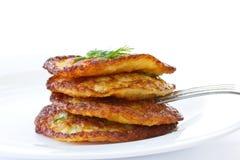 De pannekoeken van de aardappel Stock Foto's