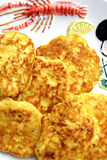 De pannekoeken van de aardappel Stock Afbeeldingen
