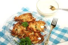 De pannekoeken van de aardappel Stock Fotografie