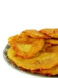 De pannekoeken van de aardappel. Pannekoeken. Stock Foto's