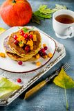 De pannekoeken van de de herfstpompoen Royalty-vrije Stock Fotografie