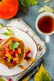 De pannekoeken van de de herfstpompoen Stock Fotografie