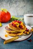 De pannekoeken van de de herfstpompoen Stock Afbeelding
