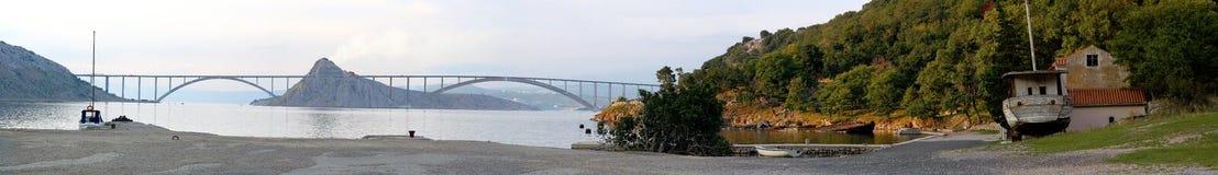 De panorama-brug Stock Foto