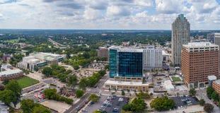 De panoramahommel nog van Hoogte neemt in de Stad van Raleigh, NC toe stock foto