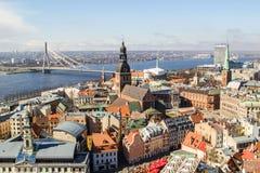 De panoramamening van Riga Stock Foto