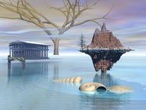 De panoramawinter Royalty-vrije Stock Afbeelding