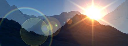 De panoramische Mening van de Berg Stock Fotografie