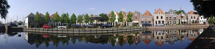 De Panoramische Scène van Spaarndam Stock Foto's