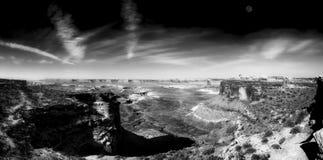 Het Punt van Grandview, Nationaal Park Canyonlands stock afbeeldingen