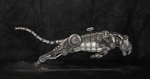 De panter van de Steampunkstijl royalty-vrije stock foto's