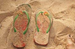 De Pantoffels van de Aardbei van het strand Royalty-vrije Stock Afbeeldingen