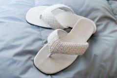 De pantoffels van het bed. Royalty-vrije Stock Afbeeldingen