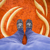 De pantoffels zijn een rijke man royalty-vrije stock fotografie