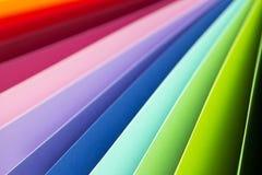 De papel de tarjetas de papel colorido Fotos de archivo