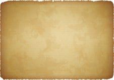 De papel envejecida con los bordes rasgados Foto de archivo libre de regalías