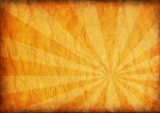De papel envelhecido com starburst abstrato Foto de Stock