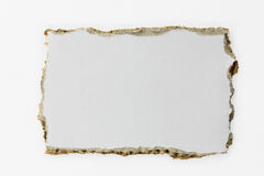 De papel rasgada (con el camino) Imagen de archivo libre de regalías