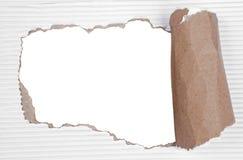 De papel rasgada con el fondo transparente stock de ilustración