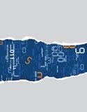 De papel rasgado com números digitais Foto de Stock