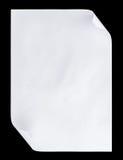 De papel vacío blanco A4 aislada en negro Foto de archivo libre de regalías