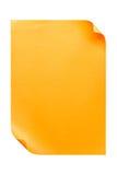 De papel A4 vazio alaranjado isolado no branco Imagens de Stock