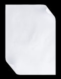 De papel A4 vazio branco isolado no preto Foto de Stock Royalty Free
