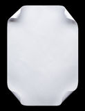De papel A4 vazio branco isolado no preto Fotografia de Stock
