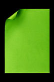 De papel A4 vazio verde isolado no preto Imagem de Stock Royalty Free