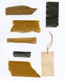 De papel y sujete con cinta adhesiva los desechos Foto de archivo