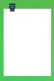De Paperclip van het dossier en A4 het Lege A4 Document van het Exemplaar Royalty-vrije Stock Foto's