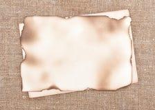 De papier âgé sur renvoyer le fond Image libre de droits