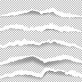 De papier déchiré avec les bords déchirés illustration libre de droits