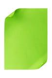 De papier A4 vide vert d'isolement sur le blanc Images libres de droits