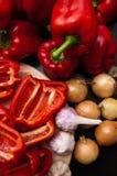 De paprika toujours la vie rouge faite maison Photo stock