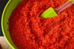 De paprika toujours la vie rouge faite maison Image stock