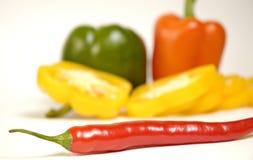 Spaanse peperpaprika Stock Foto's