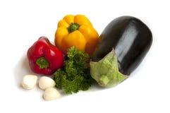 De paprikapeterselie en knoflook van de aubergine Stock Fotografie