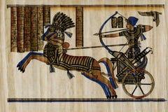 De papyrus van de farao Royalty-vrije Stock Foto's