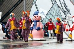 De parade 2008 van de Kerstman Stock Foto's