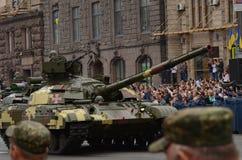 De parade in Kiev op de dag van onafhankelijkheid van de Oekraïne op 24 Augustus, 2016 royalty-vrije stock afbeeldingen