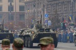 De parade in Kiev op de dag van onafhankelijkheid van de Oekraïne op 24 Augustus, 2016 stock afbeeldingen