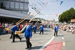 De parade van Alpenhorn Royalty-vrije Stock Foto