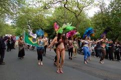 De parade van Carnaval, het eindfestival van het Westen, Glasgow Stock Foto's