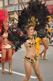De Parade van Carnaval in Warshau Stock Afbeeldingen